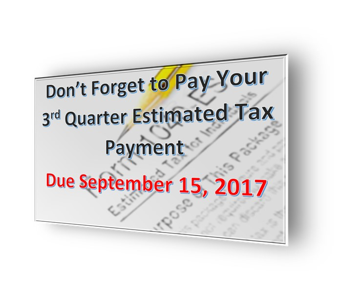 IRS Estimated Tax Payments; IRS Quarterly Tax Payments; IRS Estimates